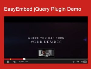 jQuery Plugin For Easy Youtube Video Embedding – EasyEmbed