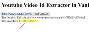 How to Extract Youtube Video Id From Youtube URL in Javascript