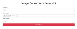 Build a Online Image Converter in Browser Using Bootstrap 4 and Javascript Full Project For Beginners