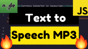 Node.js Free Text to Speech in Various Countries Voices Full App Online and Download as Mp3