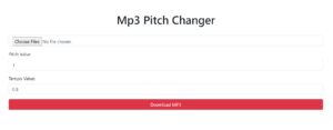 Node.js Express FFMPEG Mp3 Pitch and Tempo Changer Web App Deployed to Heroku Full Project 2020
