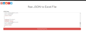 Node.js Express Raw JSON to Excel File Converter Full Web App Using json2xls Library Deployed to Live Website 2020