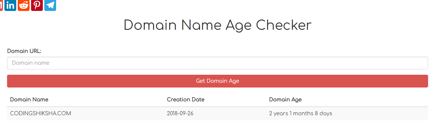 Node.js Express Domain Age Checker and Domain WHOISINFO Checker Web App Deployed on Website + Source Code 2020
