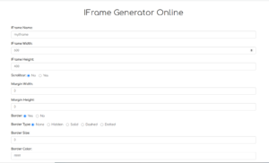Node.js Express HTML IFrame Tag Generator in Javascript Full Project For Beginners 2020