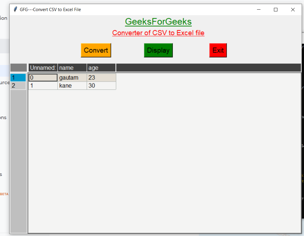 Python Tkinter GUI to Convert CSV to Excel File Using Pandas,Pandastable and Tkintertable Library Full Tutorial