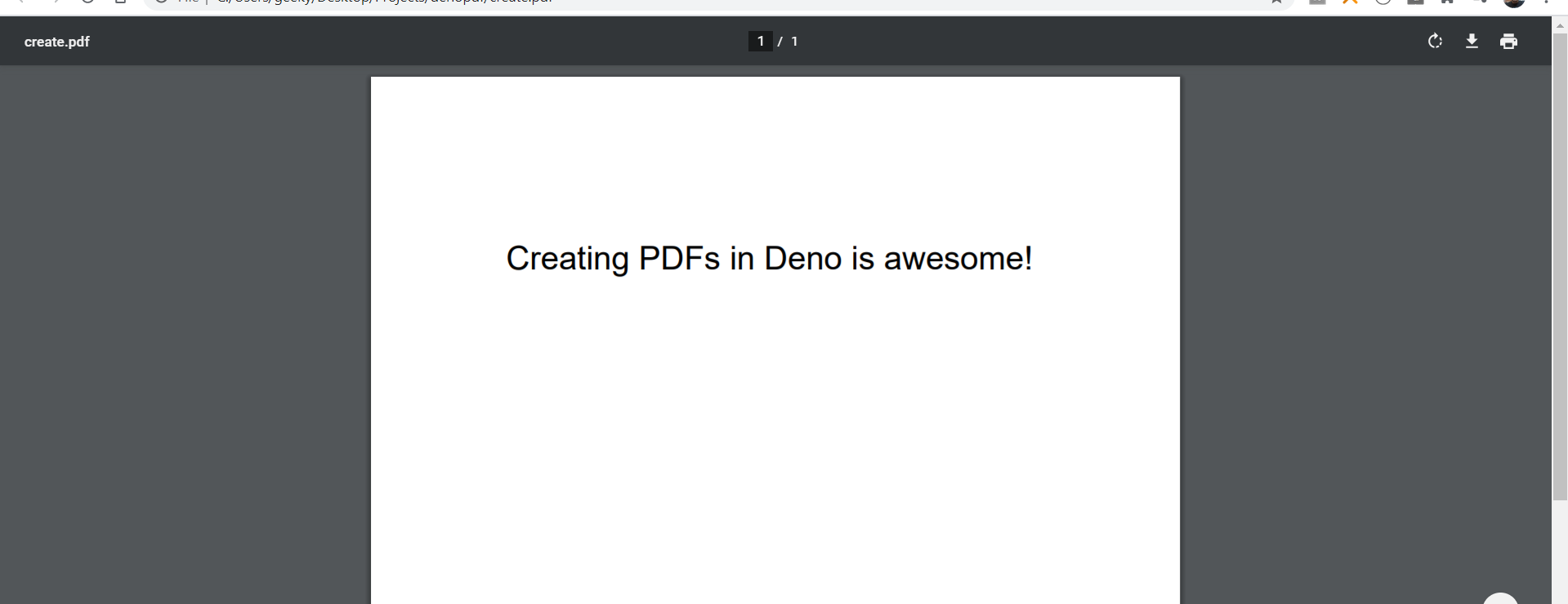 How to Create PDF Files in Deno Using PDF-LIB Library Full Tutorial with Example