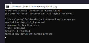 Python 3 Script to make a Keylogger that monitors Keystrokes Using pynput Library Full Project For Beginners