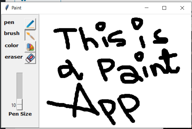 Python Tkinter GUI Script to Make a Windows Paint Drawing Application Full Project For Beginners