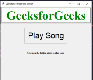 Python Tkinter Script to Play Sound Using Pygame Library in Application Full Project For Beginners