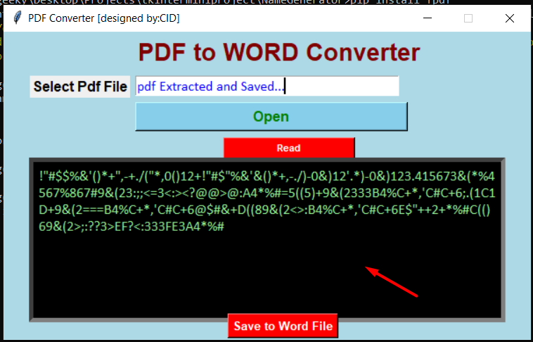 Python 3 Tkinter PyPDF2 Script to Convert PDF to MS Word DOCX Documents GUI Desktop App Full Project For Beginners