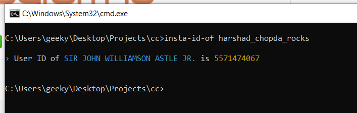 Node.js Project to Get Instagram ID of any User From Username Using insta-id-of Library in Javascript Full Tutorial For Beginners