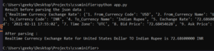 Python 3 Script to Make a Currency Converter Using Alpha Vantage API Full Project For Beginners