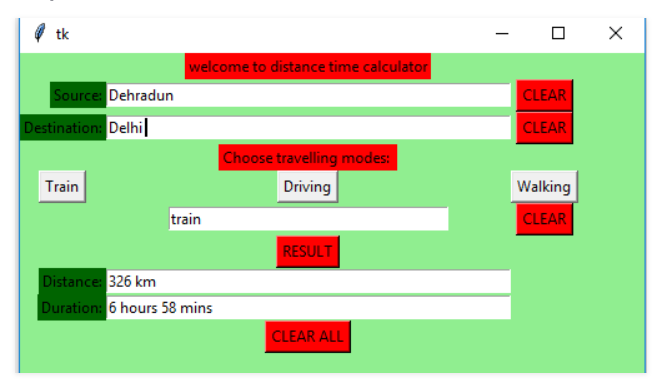 Python Google Maps Distance Matrix API Example Tkinter GUI Distance-Time Calculator Between Two Countries or Cities Desktop App Full Project For Beginners
