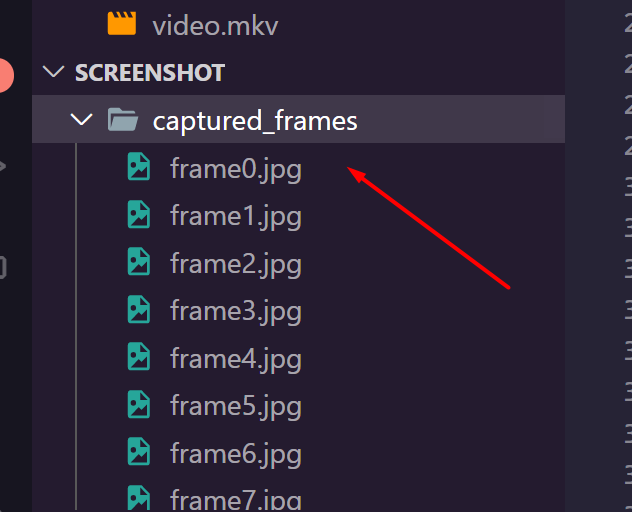 Python 3 OpenCV Script to Capture Frames From Video and Save it as PNG Image Files in Directory Full Project For Beginners