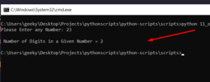 Python 3 Script to Count the Number of Digits in the Number Using Loops and Functions and Recursion Full Tutorial For Beginners