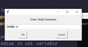 Python PyAutoGUI Script to Execute Shell Commands in GUI and Show the Result in Popup Window Desktop App Full Project For Beginners