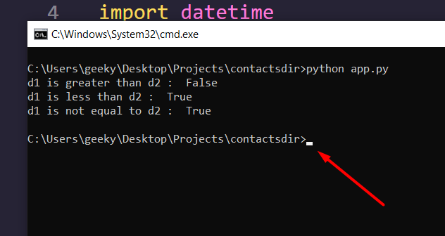 Python 3 Datetime Module Script to Compare and Sort Two Dates Full Example For Beginners