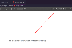 Python 3 Reportlab Library Script to Create Simple PDF Document Containing Some Text Full Example For Beginners