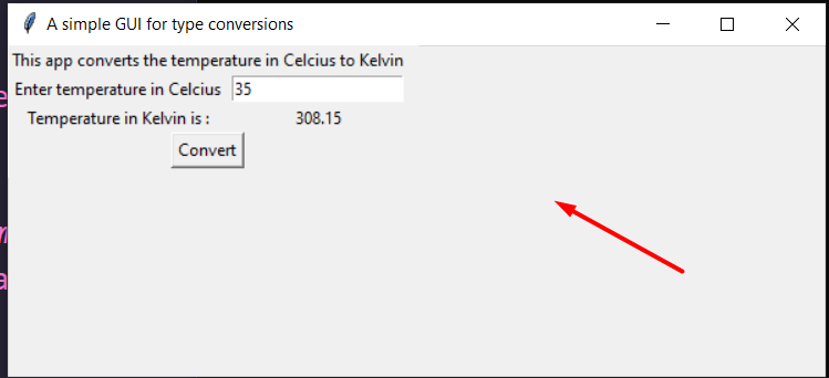 Python 3 Tkinter Script to Convert Celsius to Kelvin Temperature Converter GUI Desktop Full Project For Beginners