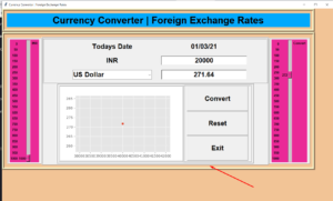 Python 3 Tkinter Script to Build Realtime Foreign Exchange Currency Converter Using BeautifulSoup4 and Matplotlib Library GUI Desktop App Full Project For Beginners
