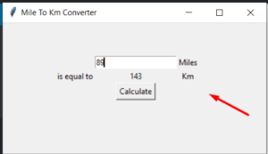 Python 3 Tkinter Distance Converter Script Kilometers (KM) to Miles GUI Desktop App Full Project For Beginners