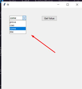 Python 3 Tkinter ComboBox Widget Example Script to Display Select List and Get Value of Selected Combobox in GUI Desktop App Full Project For Beginners