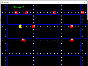 Python 3 PyGame DOS Pacman Doodle Game With Music GUI Script Desktop App Full Project For Beginners