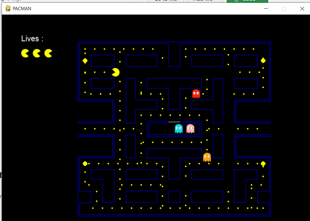 Python 3 Tkinter DOS Pacman Doodle Using PyGame Library GUI Script Desktop App Full Project For Beginners