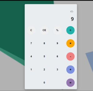 Build a Stylish Arithmetic Calculator Using HTML5 CSS3 and Javascript With Background Image Full Project For Beginners