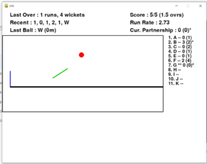 Python 3 PyGame Hand Stick 2D/3D Cricket Shot Game with Scoreboard GUI Desktop App Full Project For Beginners