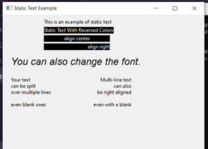 Python 3 WxPython Static Text Class Example to Display Static Text in Bold,Italic with Custom Fonts and Background Color in GUI Desktop App Full Project For Beginners