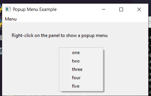 Python 3 WxPython Popup Context Menubar by Right Click in GUI Desktop App Full Project For Beginners