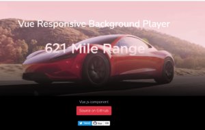 Vue.js Nuxt.js Responsive Background Video Player Using vue-responsive-video-background-player Library in Javascript Full Project For Beginners