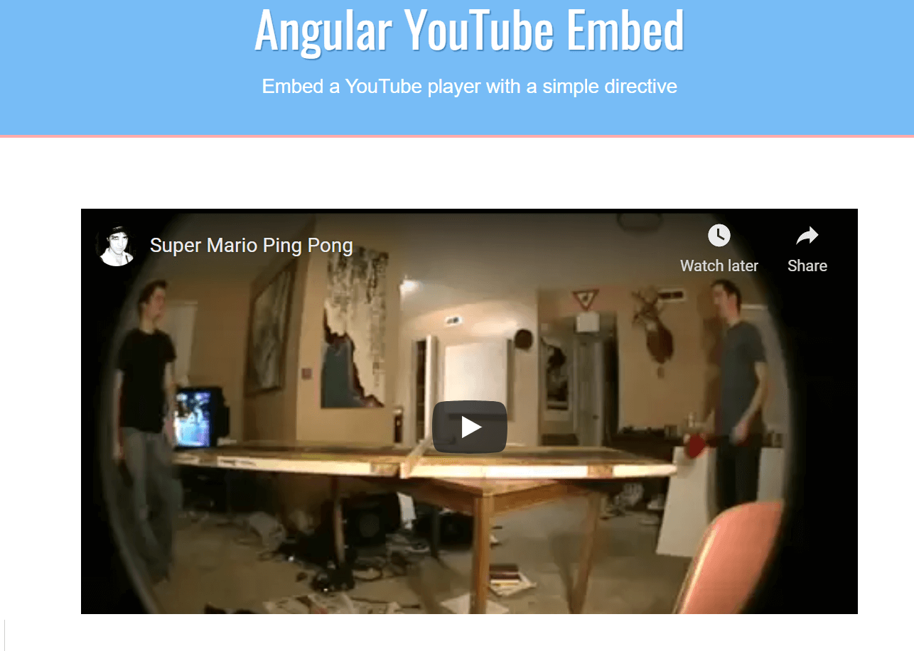 AngularJS Youtube Video Embed IFrame API Video Player in Browser Using angular-youtube-embed Directive in Javascript Full Project For Beginners