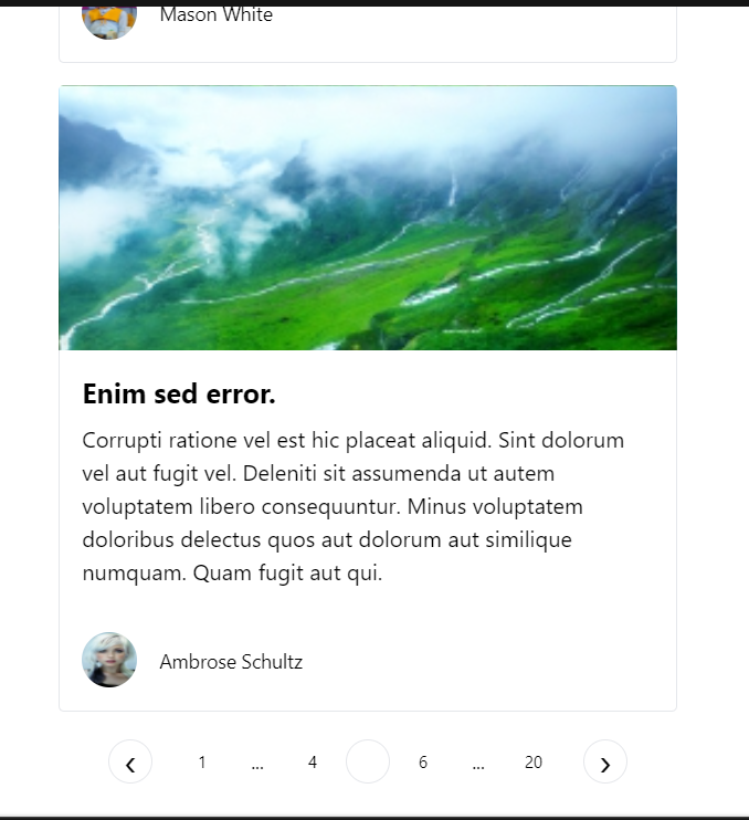 Vue.js Bootstrap Faker.js REST API Pagination Using vue-paginator Library in Javascript Full Project For Beginners