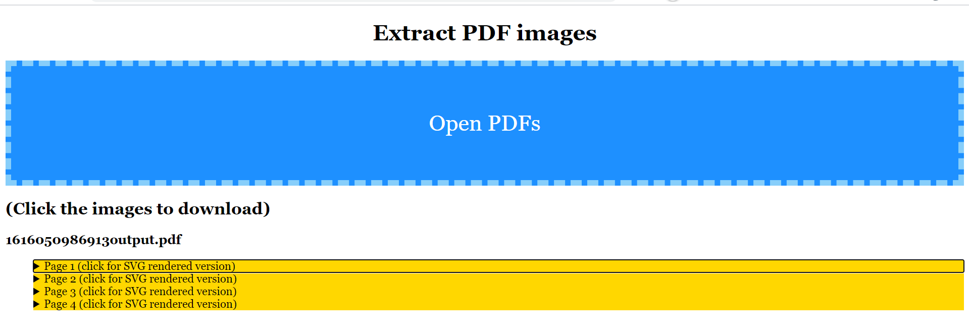 Vue.js Mozilla PDF.js dist Library Example to Extract all Images From PDF Documents in Browser Using Javascript Full Project For Beginners