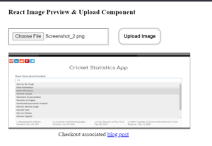 React.js Image Preview and Upload to Server Class Component in Browser Using Javascript Full Project For Beginners