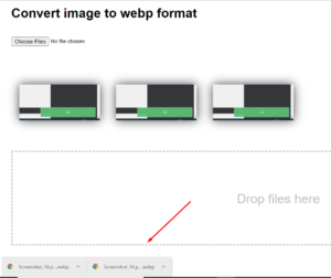 Javascript Drag and Drop Convert (PNG+JPG) Images to Webp Format on Client Side Full Project For Beginners