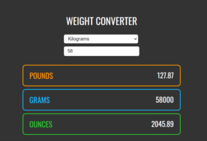 Build a Unit Weight Converter (Kilograms + Pounds + Ounces + Grams) in Javascript Full Project For Beginners