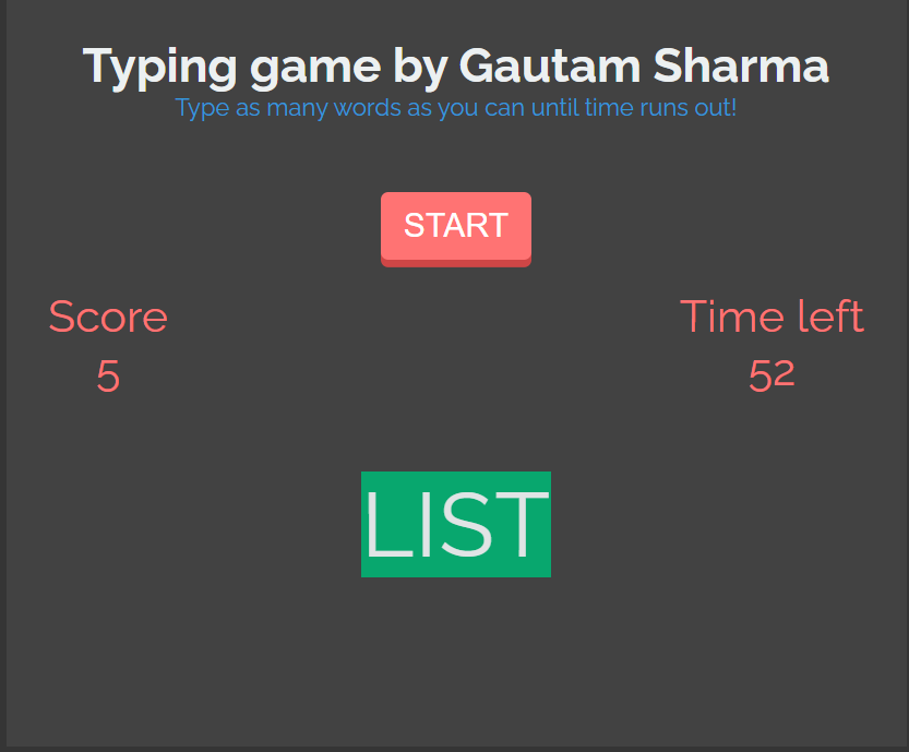 Build a Animate.css Typeracer Word Typing Racing Game in Javascript Full Project For Beginners