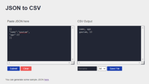 Javascript Convert JSON to CSV in Browser and Download it as CSV File Using FileSaver.js Library Full Project For Beginners