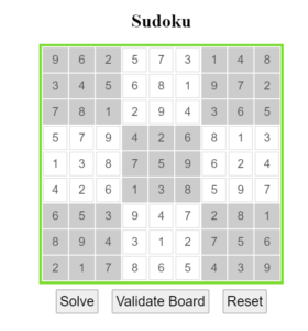 Build a Sudoku Board Solver Puzzle Game in HTML5 CSS3 and Javascript Full Project For Beginners
