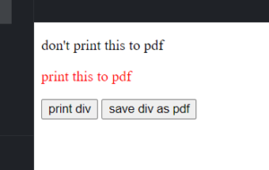 jsPDF Tutorial to Export and Print Div HTML Content to PDF Document and Download it as PDF File in Browser Using Javascript Full Project For Beginners
