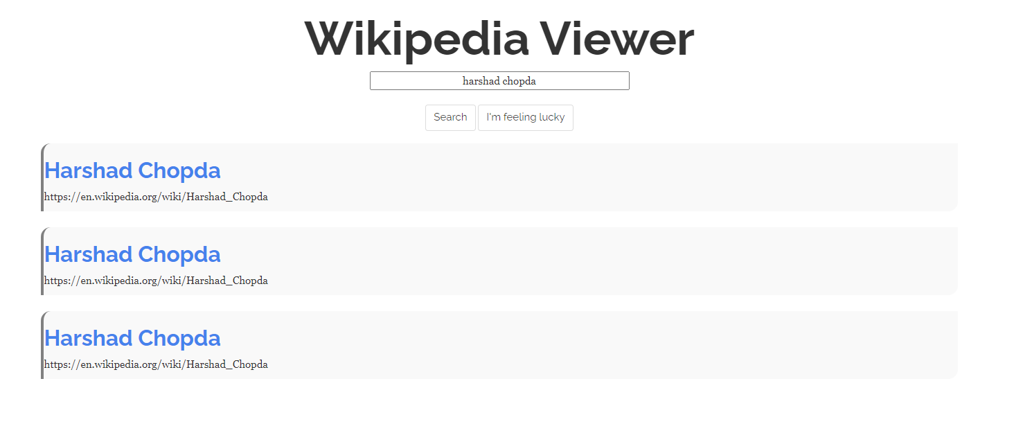 Build a Wikipedia Page Viewer Search Engine in Browser Using Vanilla Javascript Full Project For Beginners