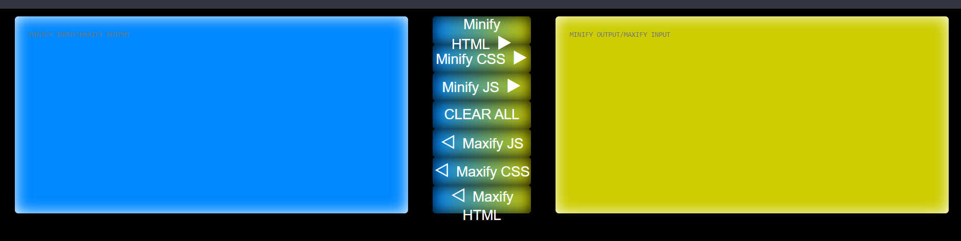 Build HTML,CSS,Javascript Code Compressor or Minifier Web App in Browser Using Vanilla Javascript Full Project For Beginners