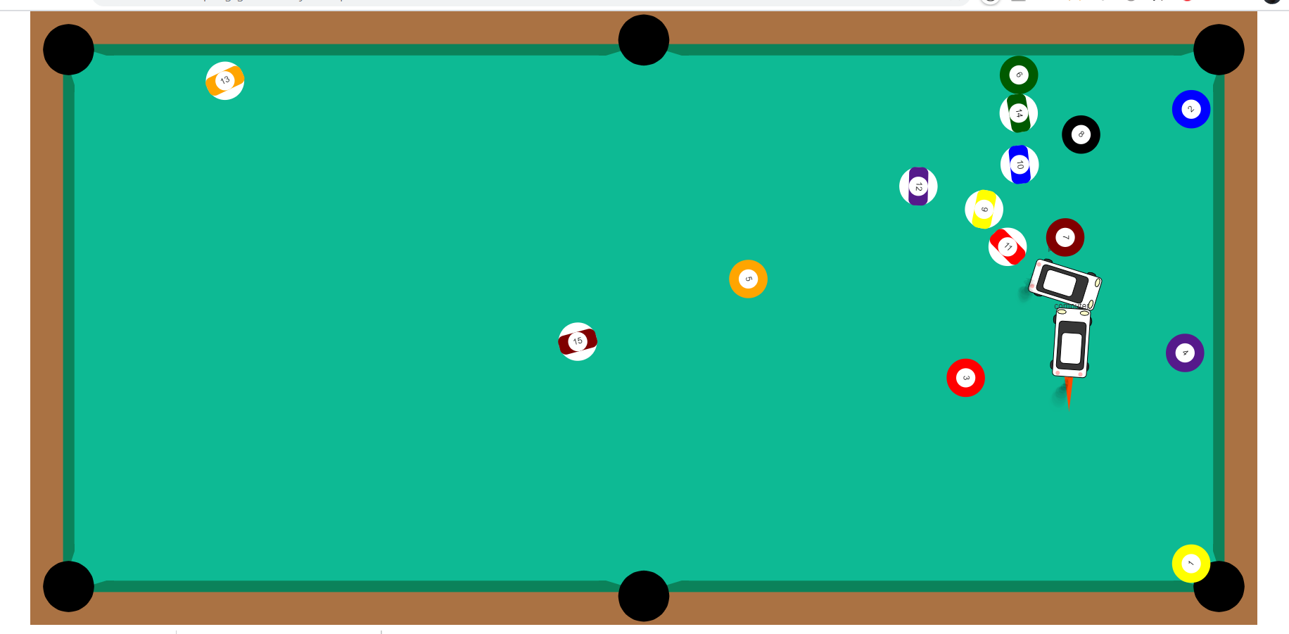 Build a P5.js Multiplayer Car 8 Ball Pool Billiards Game in Browser Using Javascript Full Project For Beginners
