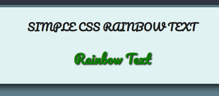 Build a Stylish Animated Rainbow Text in Browser Using HTML5 and CSS3 Full Project For Beginners