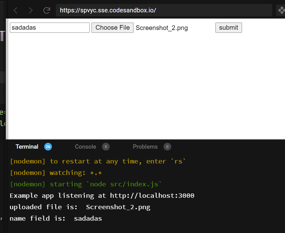 Node.js Express Upload Files on Server With Custom Name Using Multer Library in Javascript Full Example Project For Beginners