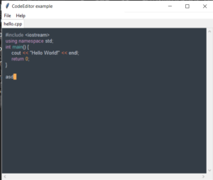 Python 3 tkcode Library to Display Source Code Blocks and Build Source Code Editor GUI Desktop App Full Project For Beginners